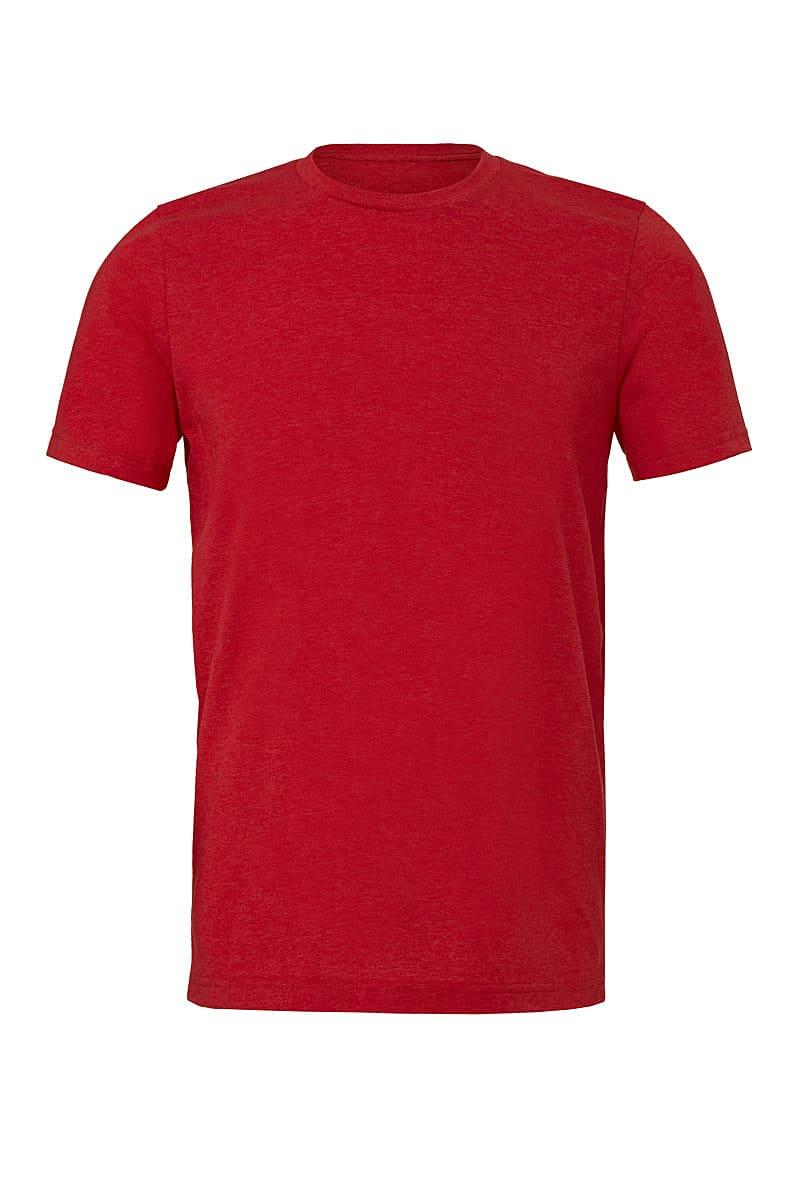 Bella Canvas Mens Tri-blend Short-Sleeve T-Shirt in Solid Red Triblend (Product Code: CA3413)
