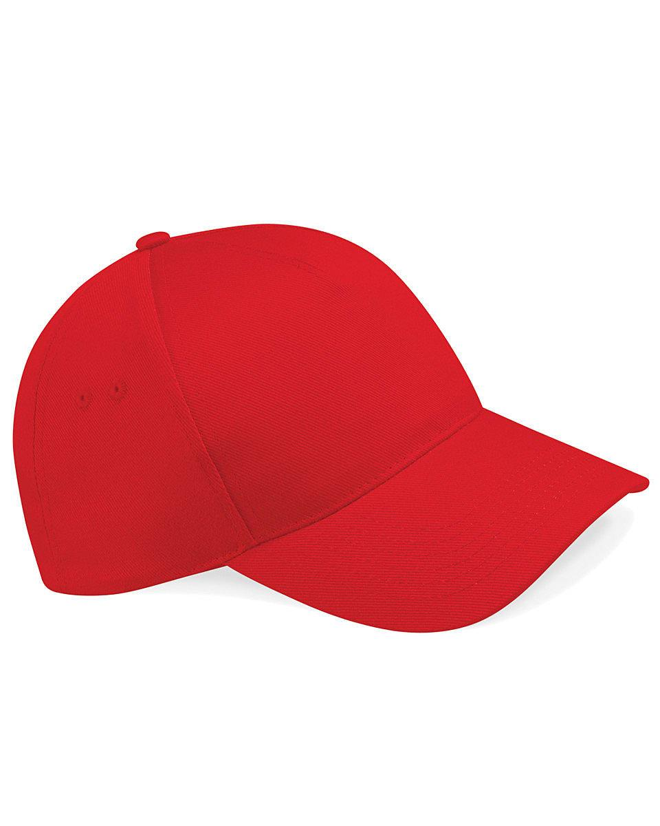 Beechfield Ultimate 5 Panel Cap in Classic Red (Product Code: B15)