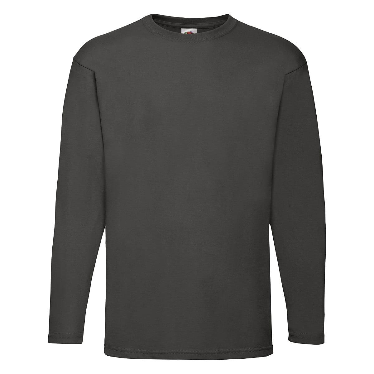 Fruit Of The Loom Valueweight Long-Sleeve T-Shirt in Light Graphite (Product Code: 61038)