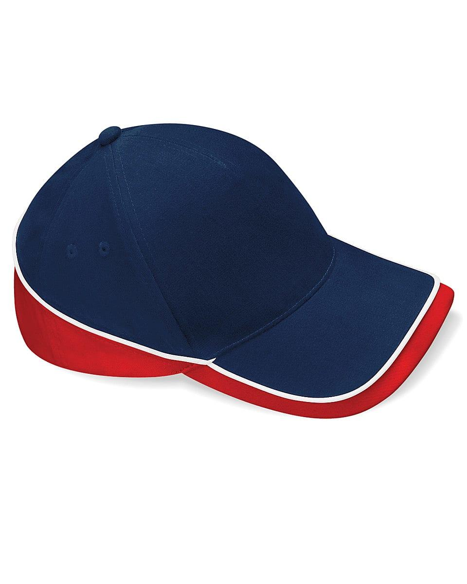 Beechfield Teamwear Competition Cap in French Navy / Classic Red / White (Product Code: B171)