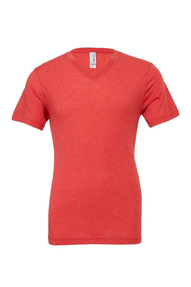 Bella Triblend V-Neck T-Shirt in Red Triblend (Product Code: CA3415)