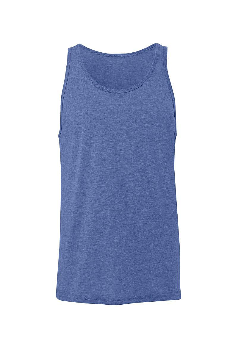 Bella Unisex Jersey Tank in Blue Triblend (Product Code: CA3480)