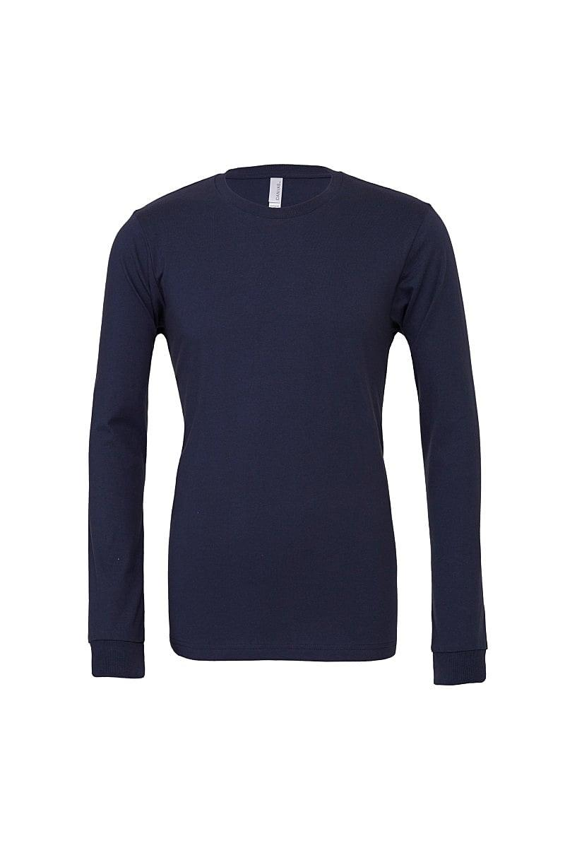 Bella Unisex Jersey Long-Sleeve T-Shirt in Navy Blue (Product Code: CA3501)