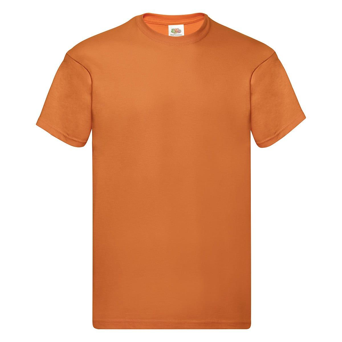 Fruit Of The Loom Original Full Cut T-Shirt in Orange (Product Code: 61082)