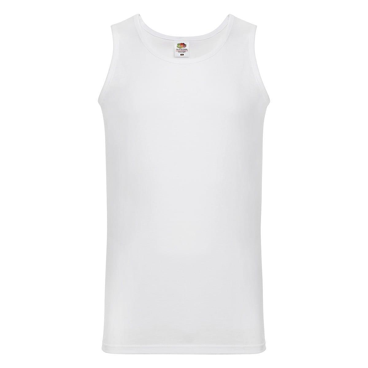 Fruit Of The Loom Athletic Vest in White (Product Code: 61098)