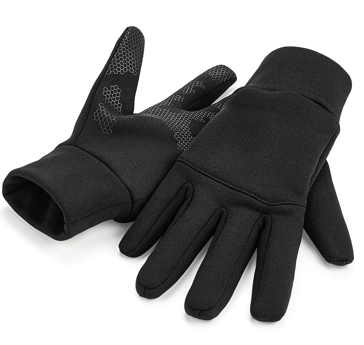 Beechfield Softshell Sports Tech Gloves in Black (Product Code: B310)
