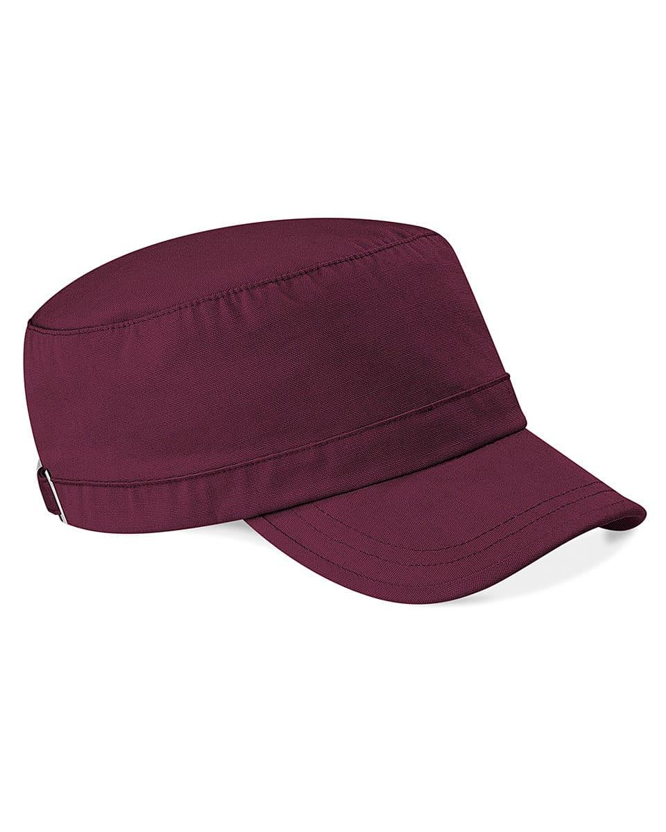 Beechfield Army Cap in Burgundy (Product Code: B34)