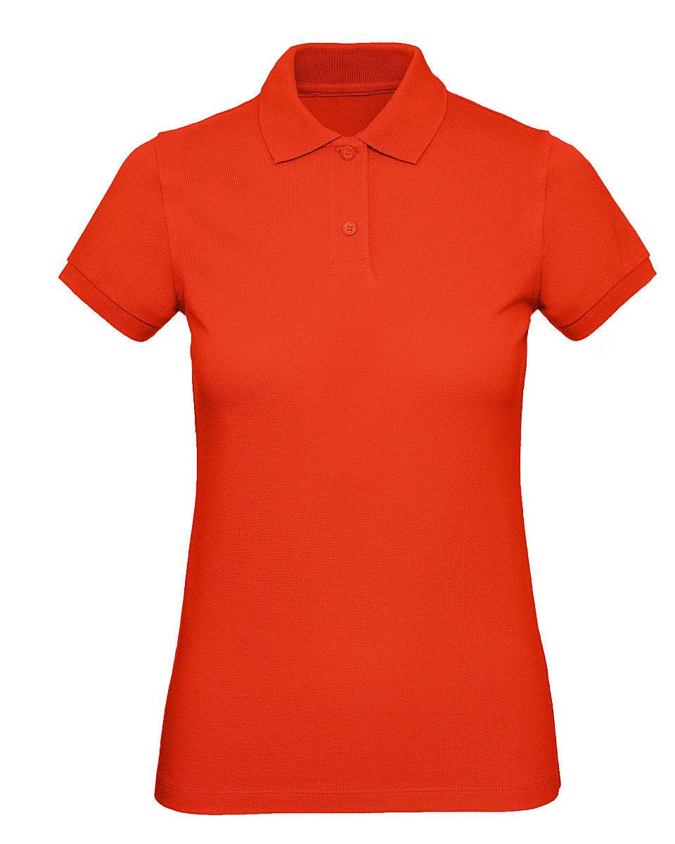 B&C Womens Inspire Polo Shirt in Fire Red (Product Code: PW440)