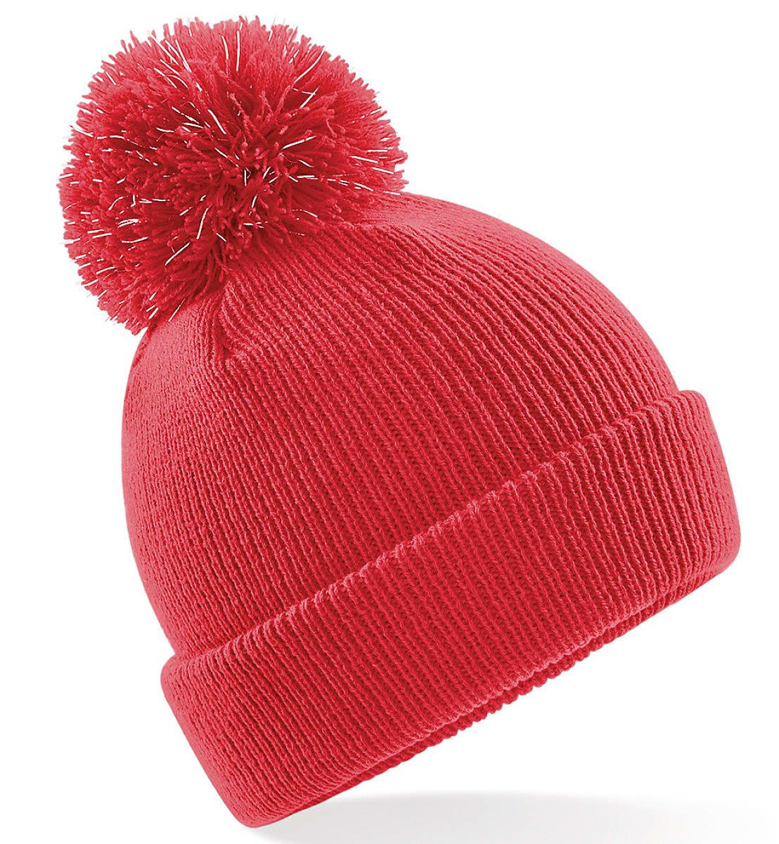 Beechfield Junior Reflective Beanie Hat in Bright Red (Product Code: B406B)