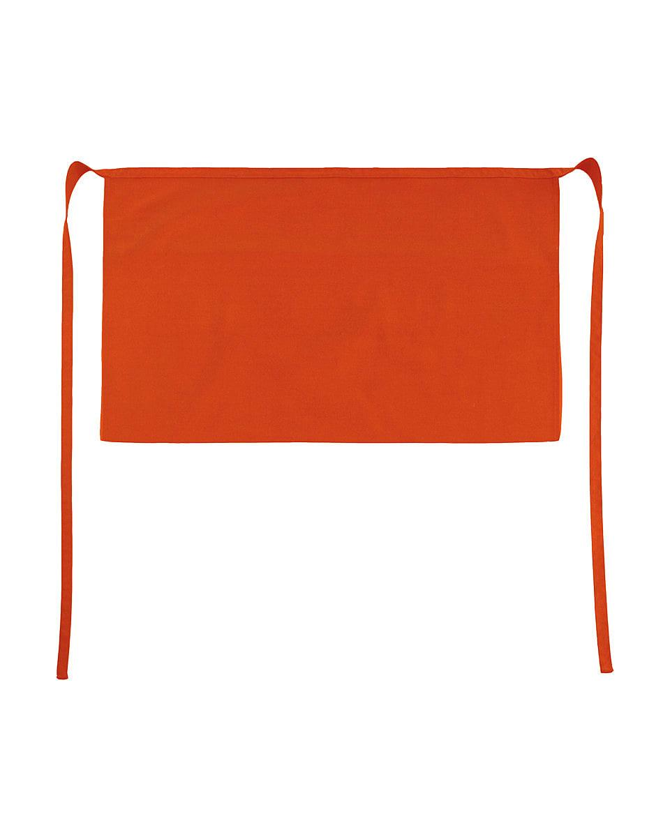 Jassz Bistro Brussels Short Apron in Burnt Orange (Product Code: JG14)