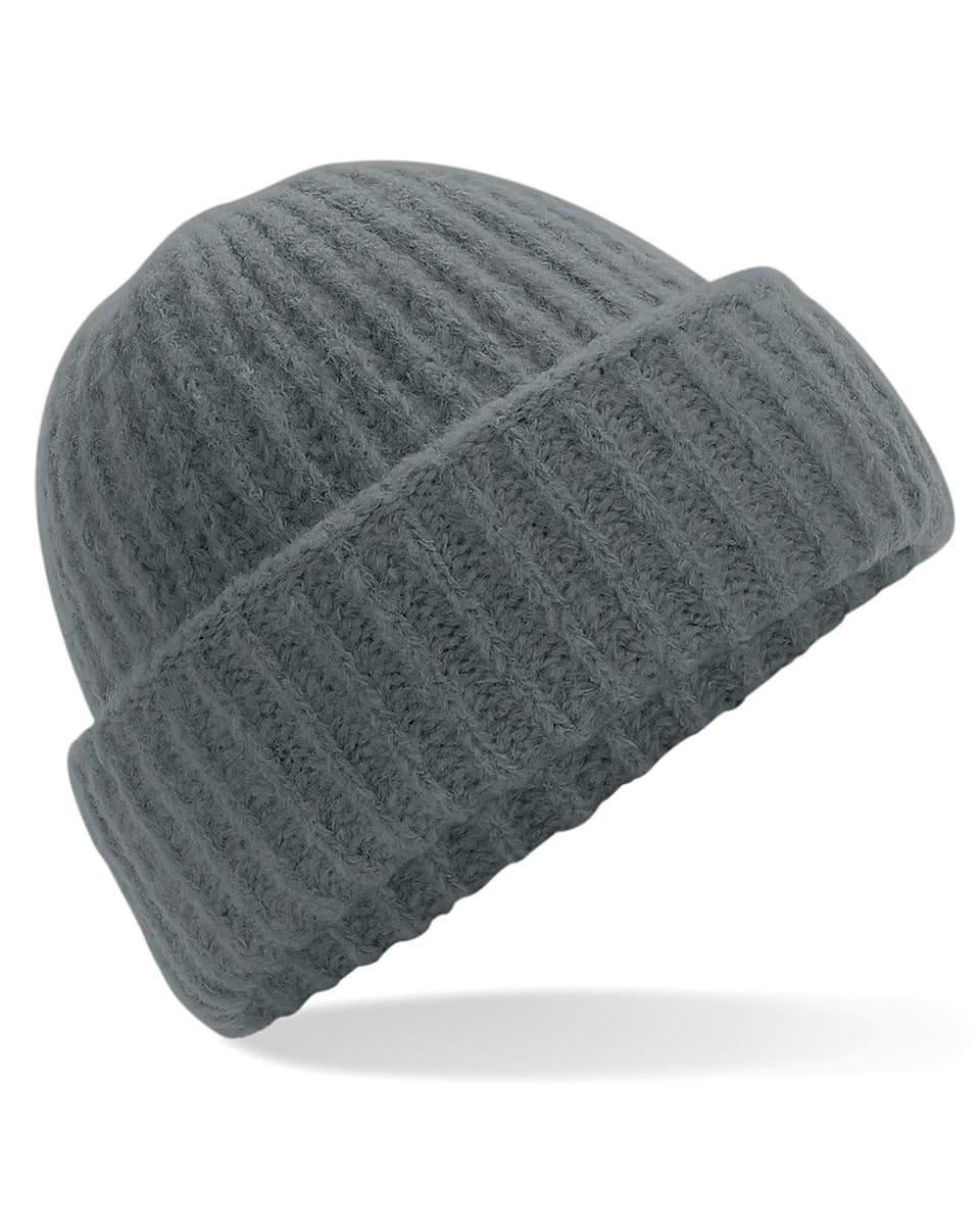 Beechfield Plush Beanie Hat in Soft Grey (Product Code: B418)