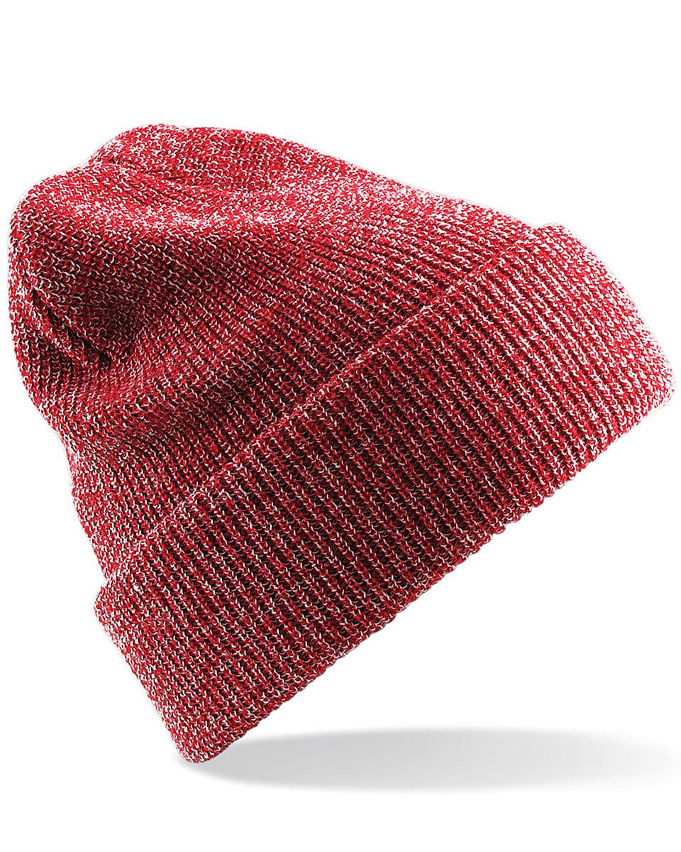 Beechfield Heritage Beanie Hat in Heather Red (Product Code: B425)