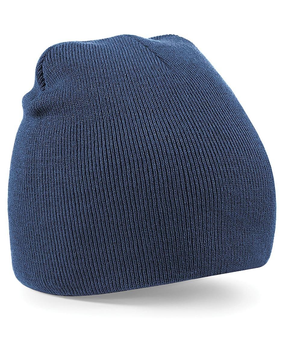 Beechfield Original Pull-On Beanie Hat in French Navy (Product Code: B44)