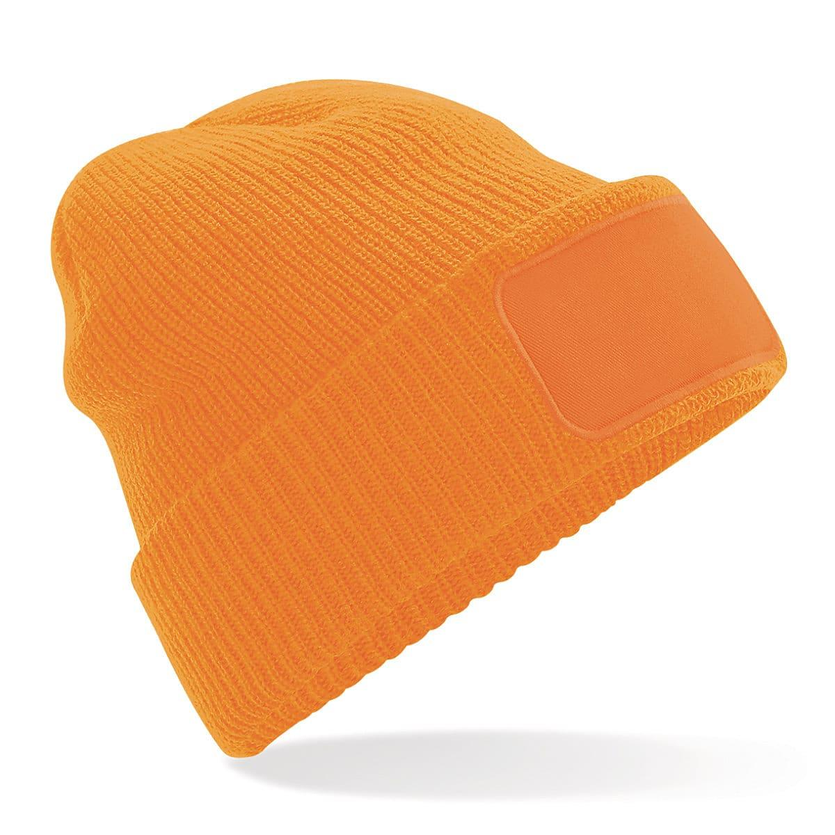 Beechfield Thinsulate Printer Beanie Hat in Fluorescent Orange (Product Code: B440)
