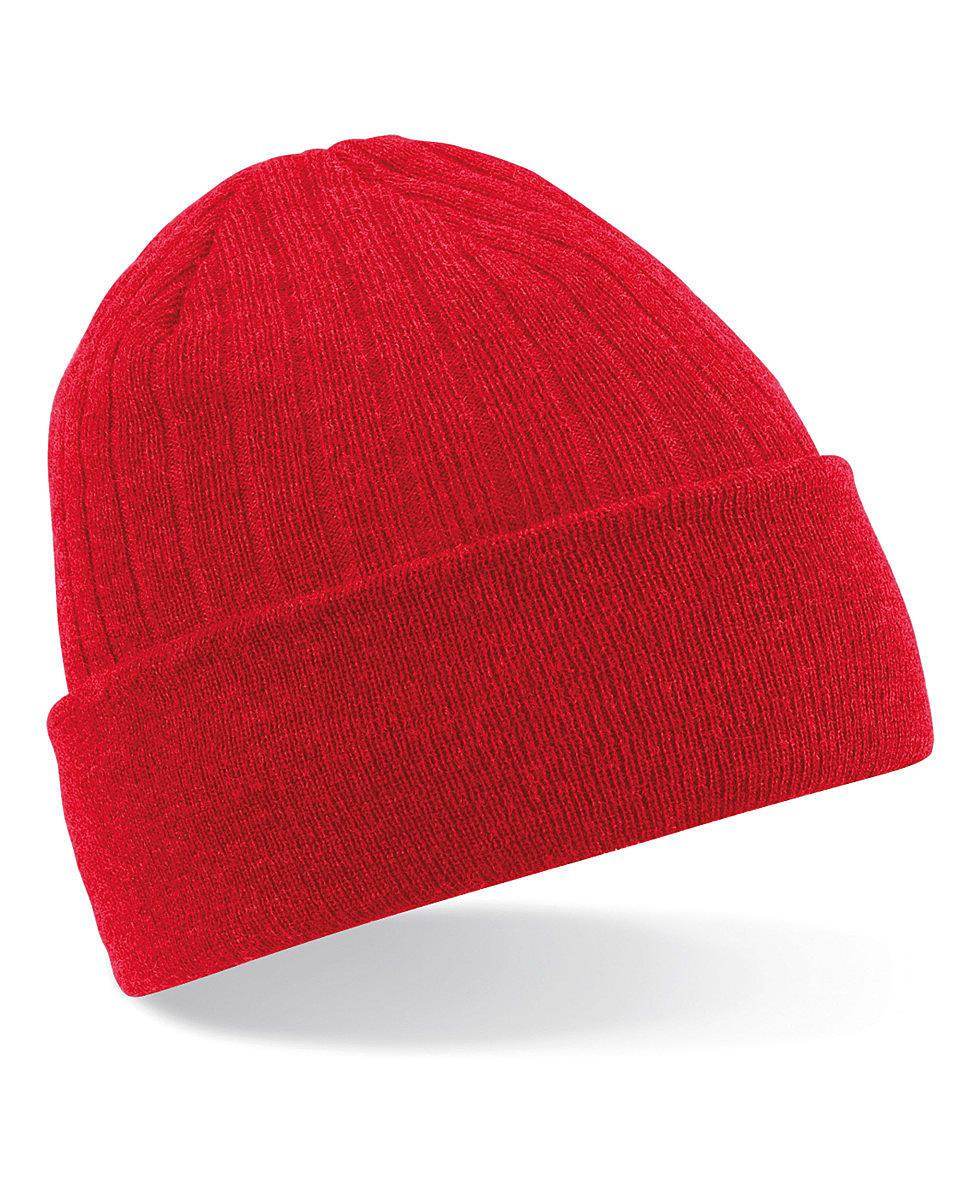 Beechfield Thinsulate Beanie Hat in Classic Red (Product Code: B447)