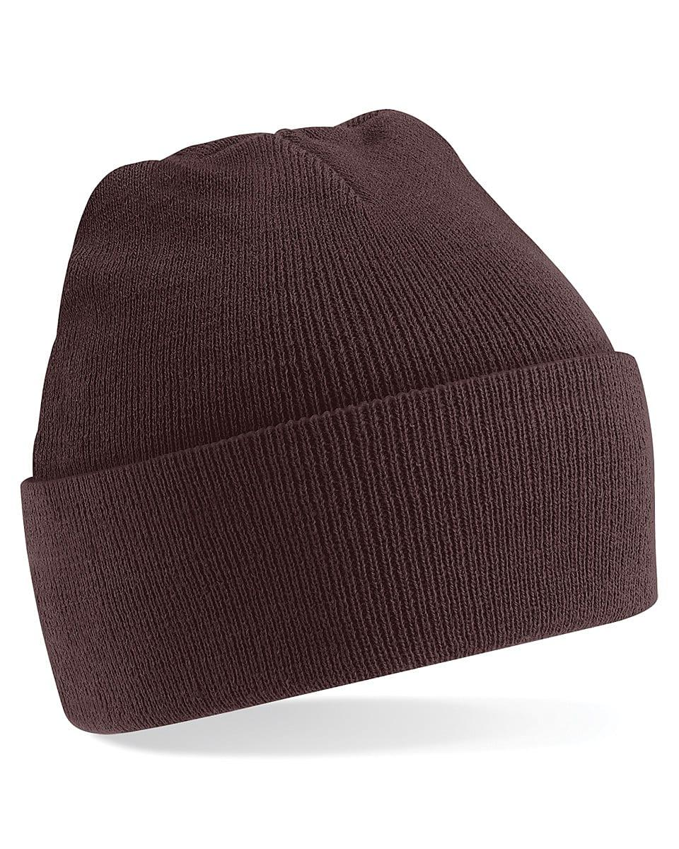 Beechfield Original Cuffed Beanie Hat in Chocolate (Product Code: B45)