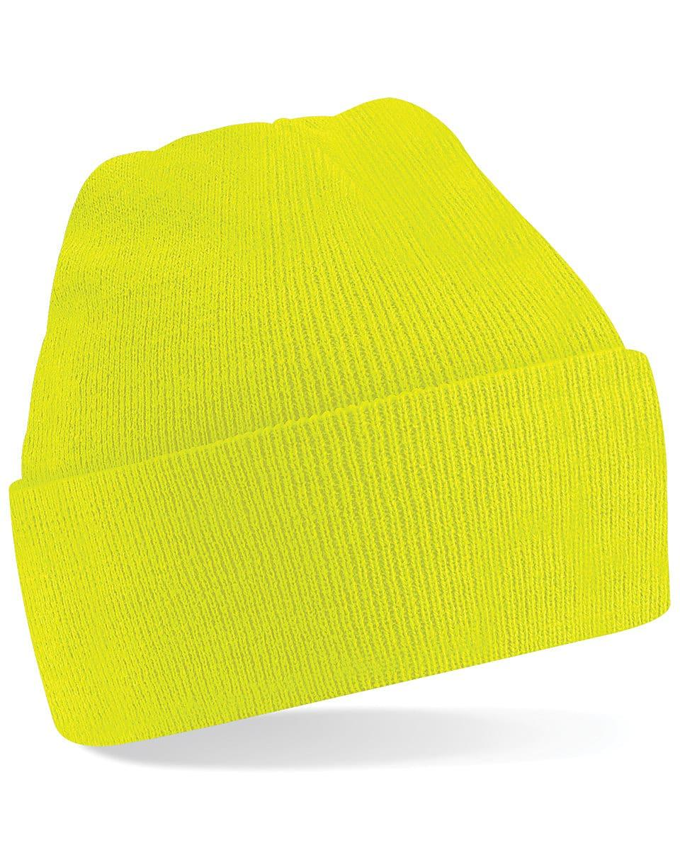 Beechfield Original Cuffed Beanie Hat in Fluorescent Yellow (Product Code: B45)