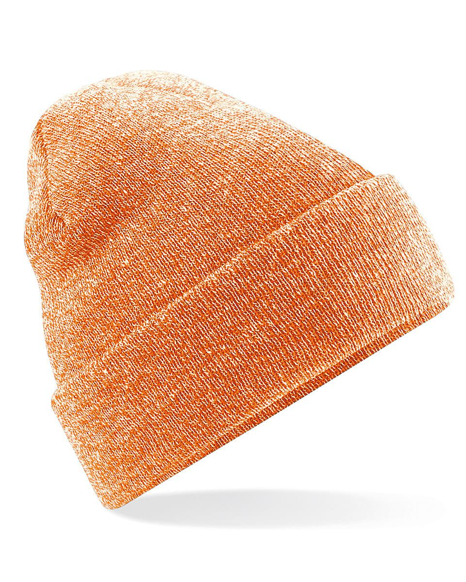 Beechfield Original Cuffed Beanie Hat in Heather Orange (Product Code: B45)