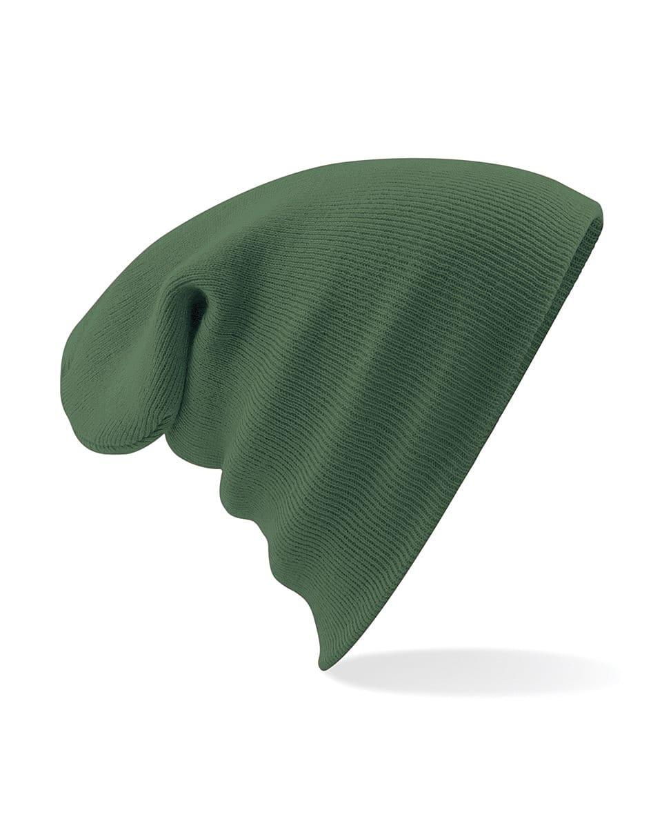 Beechfield Original Cuffed Beanie Hat in Moss Green (Product Code: B45)