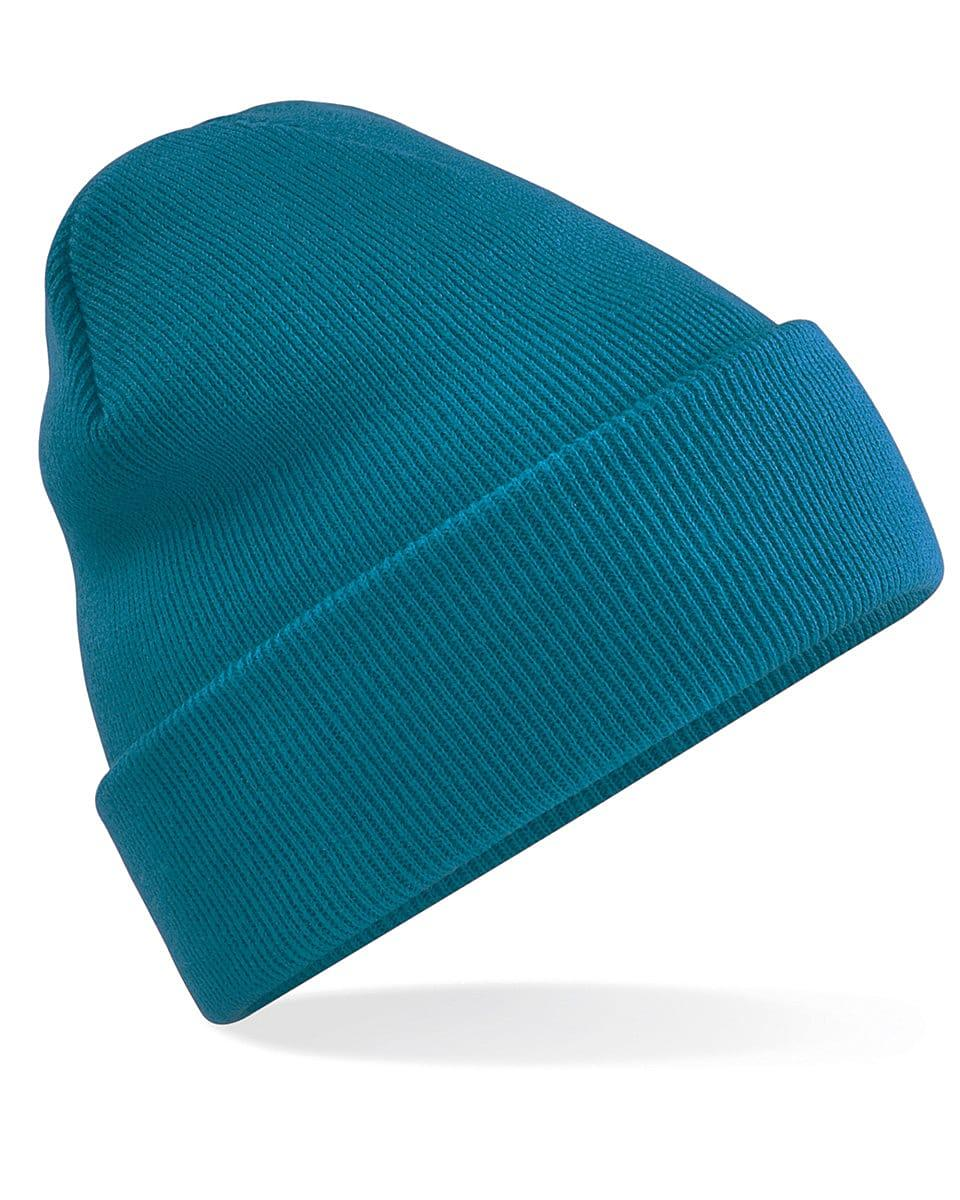 Beechfield Original Cuffed Beanie Hat in Teal (Product Code: B45)