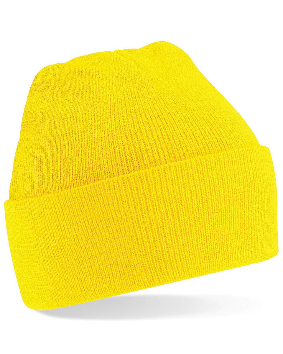 Beechfield Original Cuffed Beanie Hat in Yellow (Product Code: B45)
