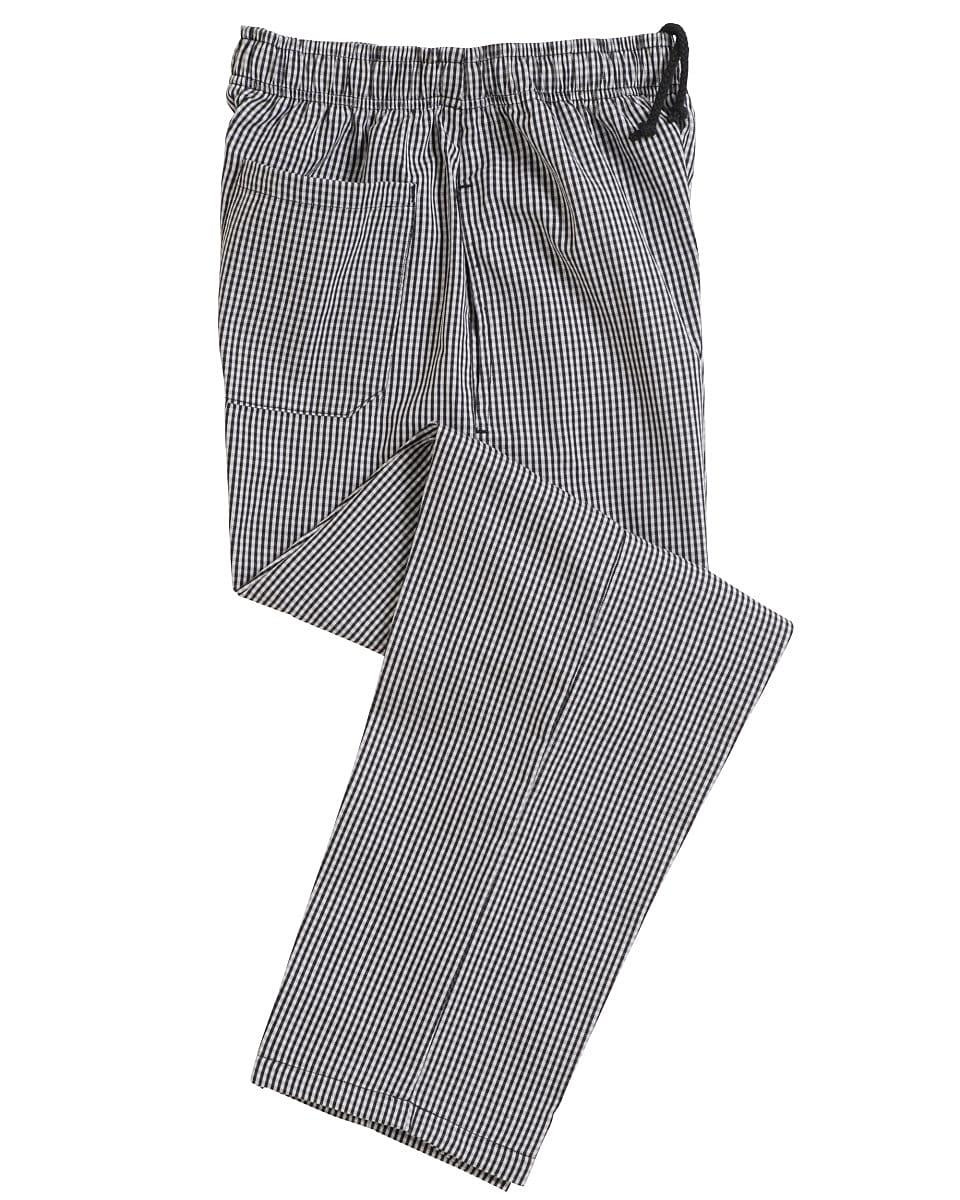 Dennys Blue / White Check Fully Elasticated Trousers in Navy / White (Product Code: DC01E)