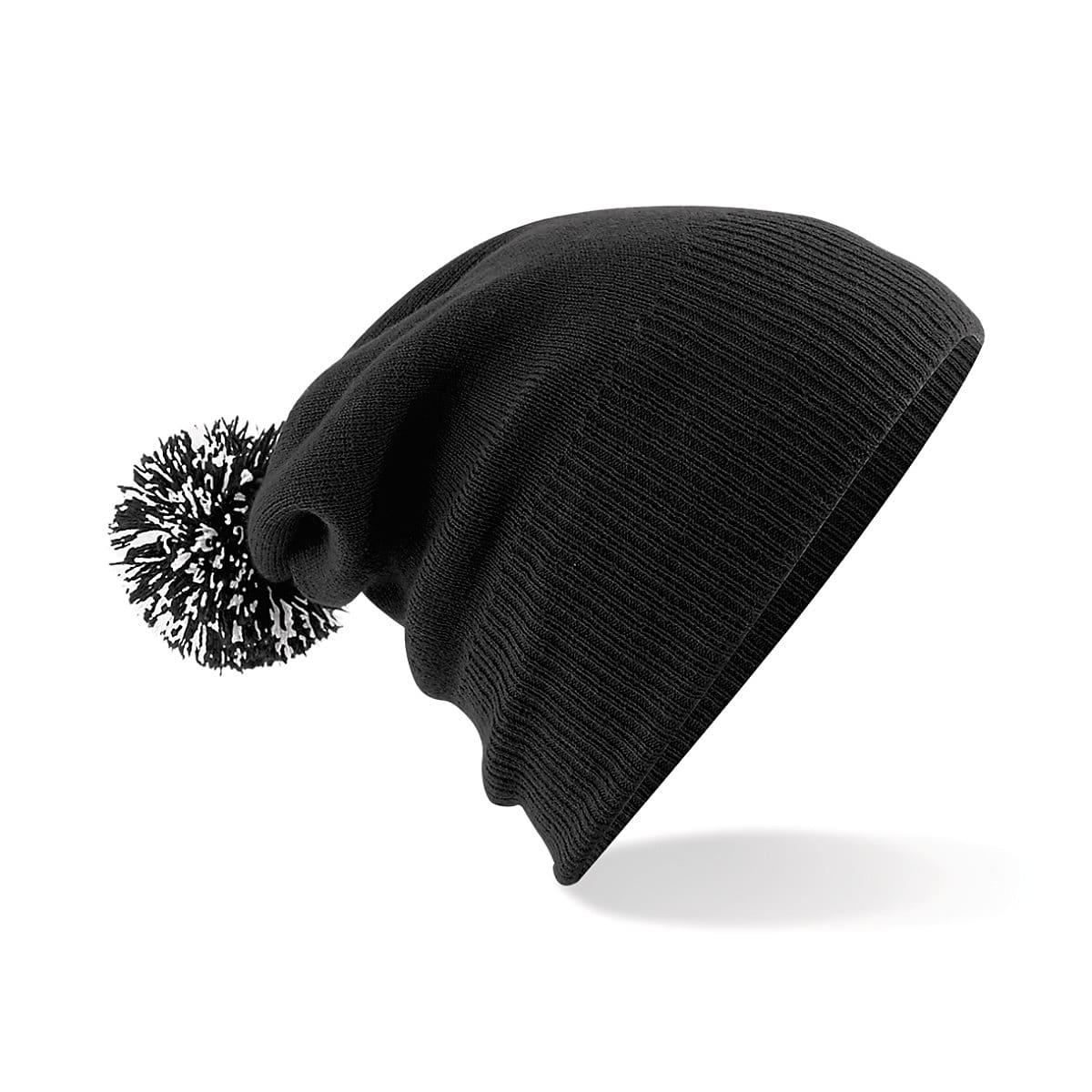 Beechfield Snowstar Beanie Hat in Black / White (Product Code: B450)