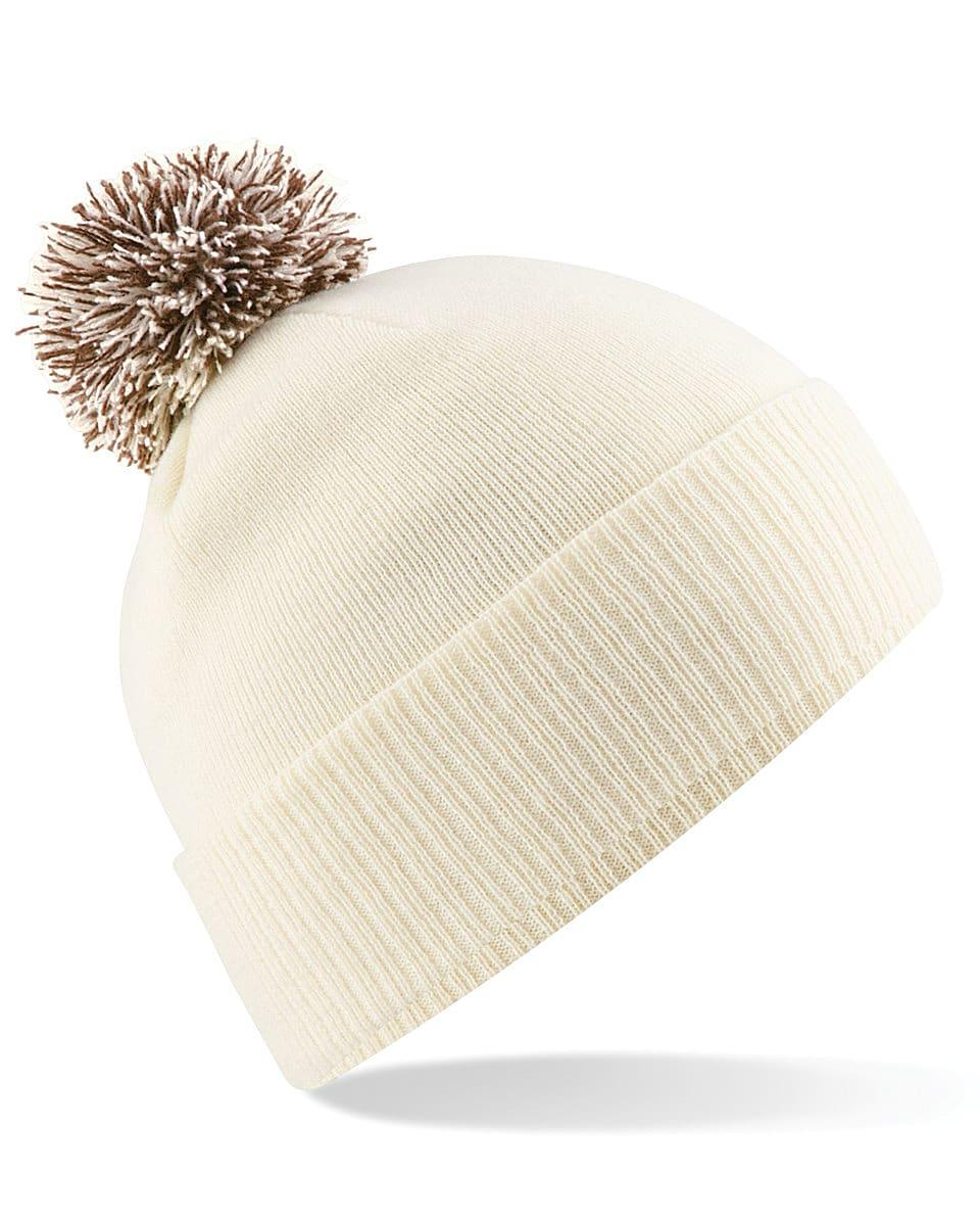 Beechfield Snowstar Beanie Hat in Off-White / Mocha (Product Code: B450)
