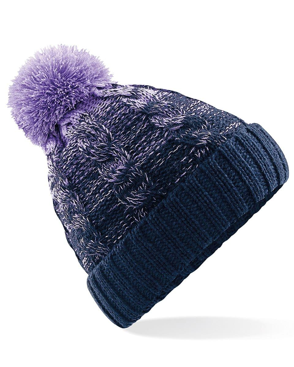 Beechfield Ombre Beanie Hat in Lavender / French Navy (Product Code: B459)