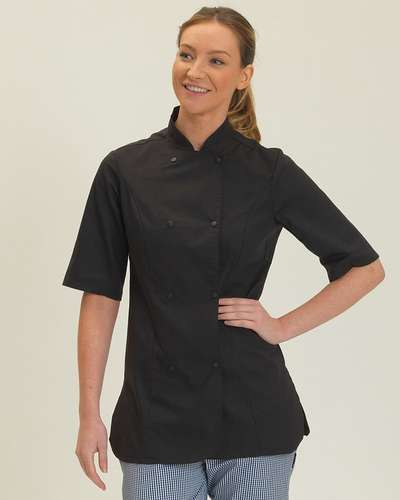 Dennys Womens Short-Sleeve Chefs Jacket