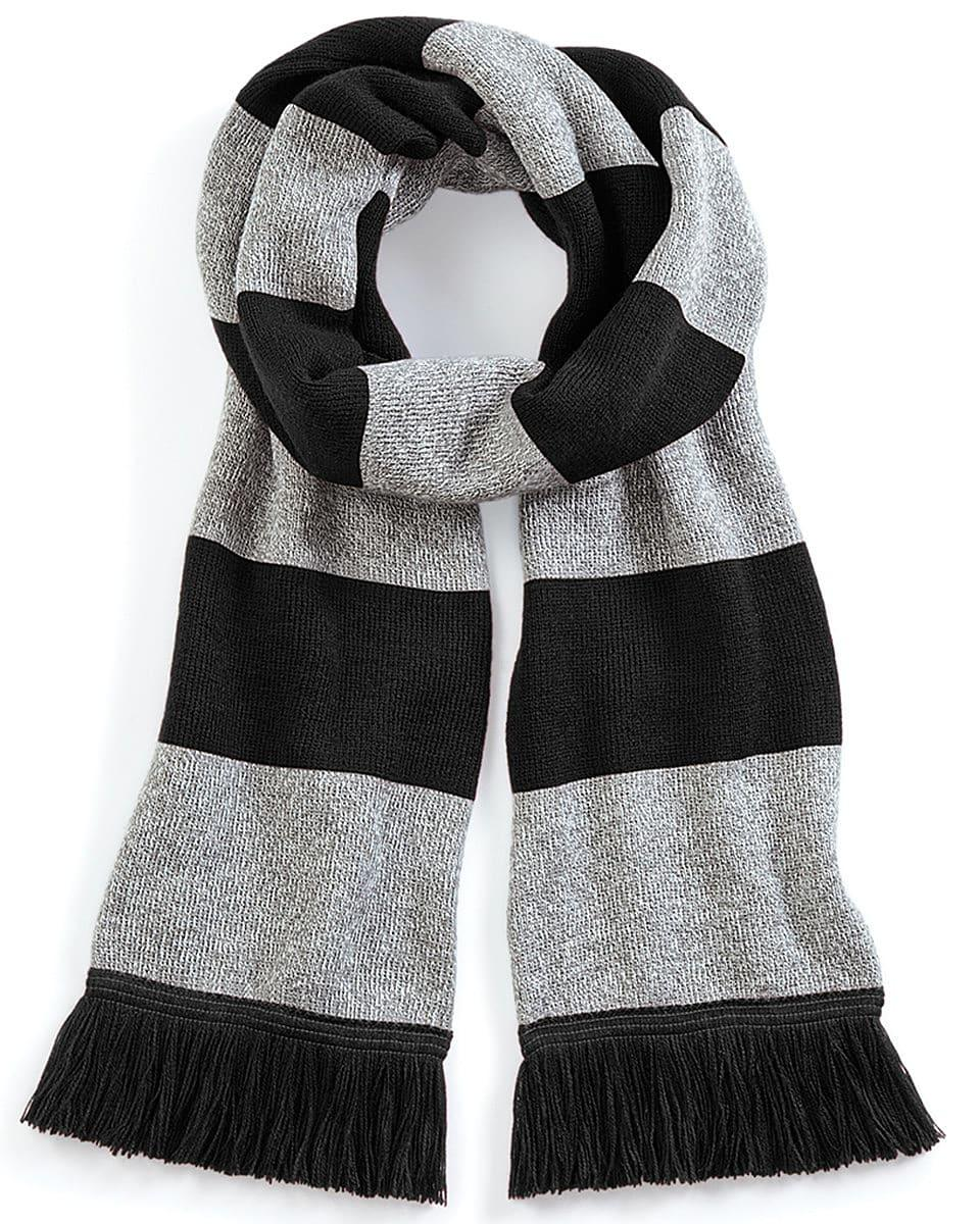 Beechfield Varsity Scarf in Black / Heather Grey (Product Code: B479)