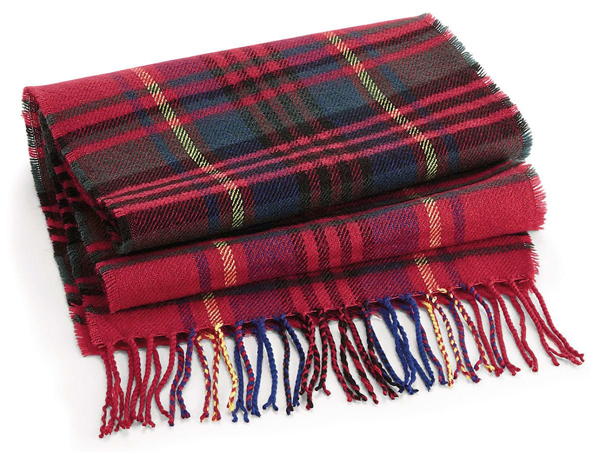 Beechfield Classic Check Scarf in Red Check (Product Code: B489)