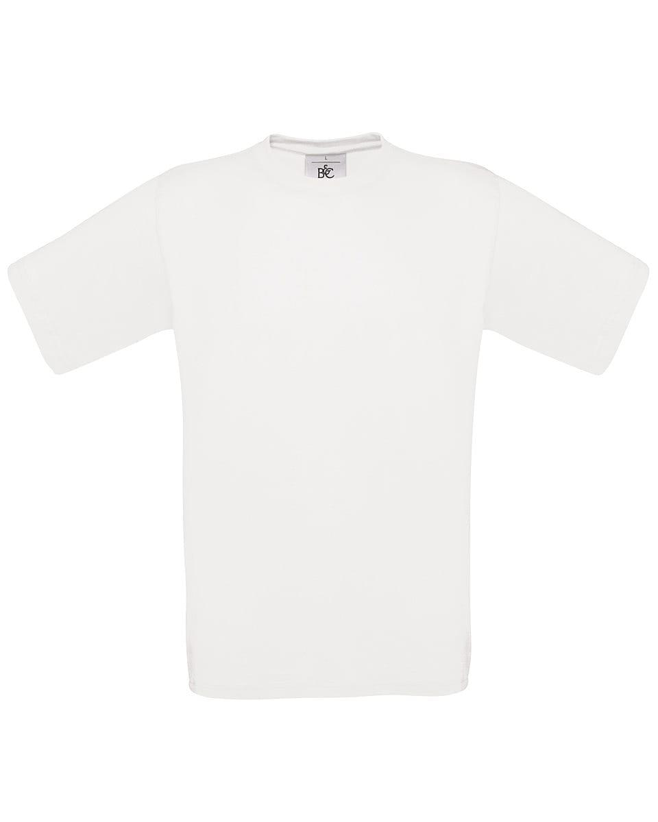 B&C Mens Exact 150 T-Shirt in White (Product Code: TU002)