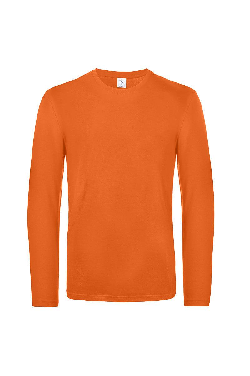 B&C Mens E190 Long-Sleeve Jersey in Urban Orange (Product Code: TU07T)