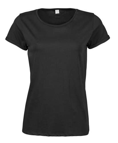 Tee Jays Womens Roll Up Sleeve T-Shirt