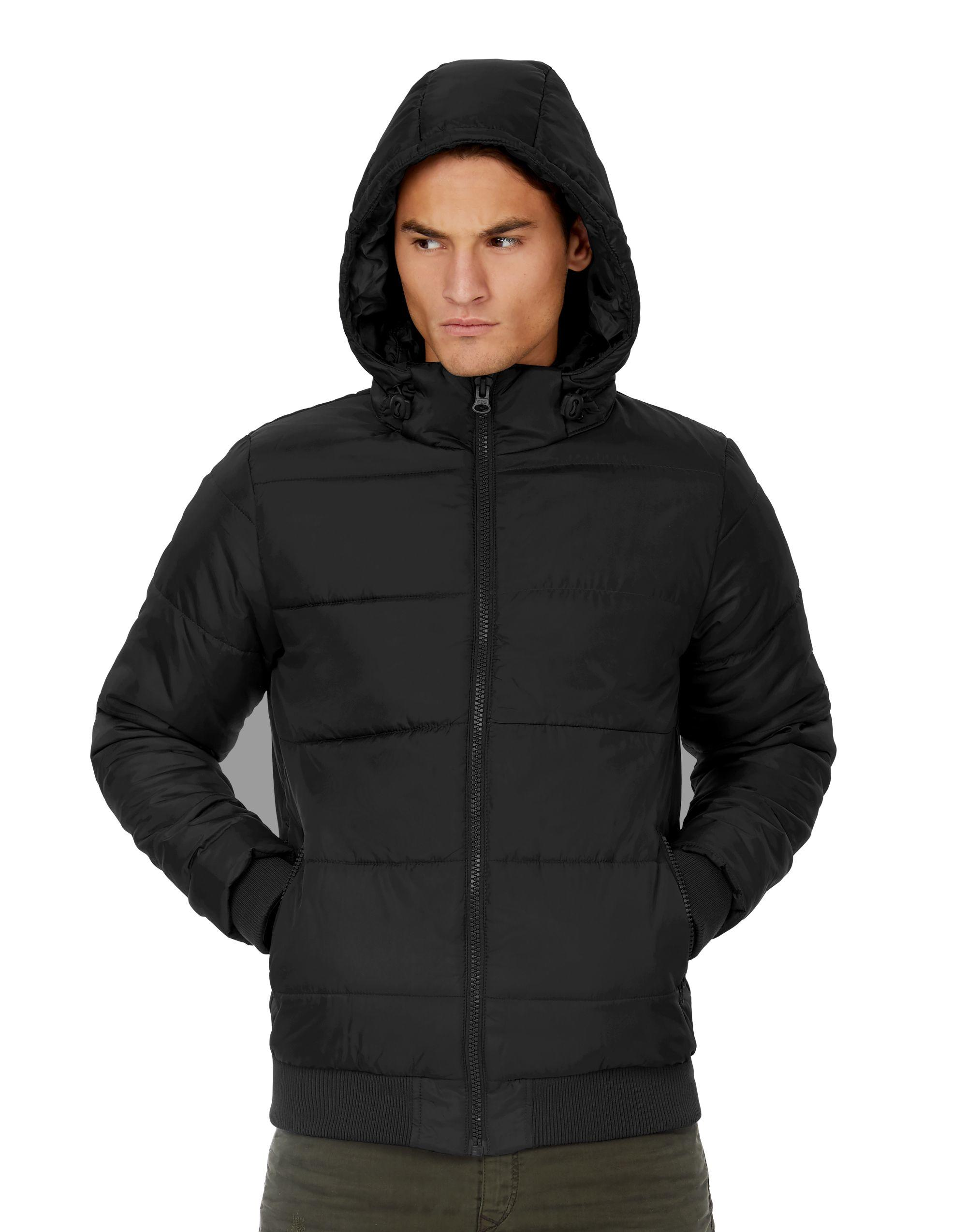 B&C Mens Superhood Jacket in Black (Product Code: JM940)
