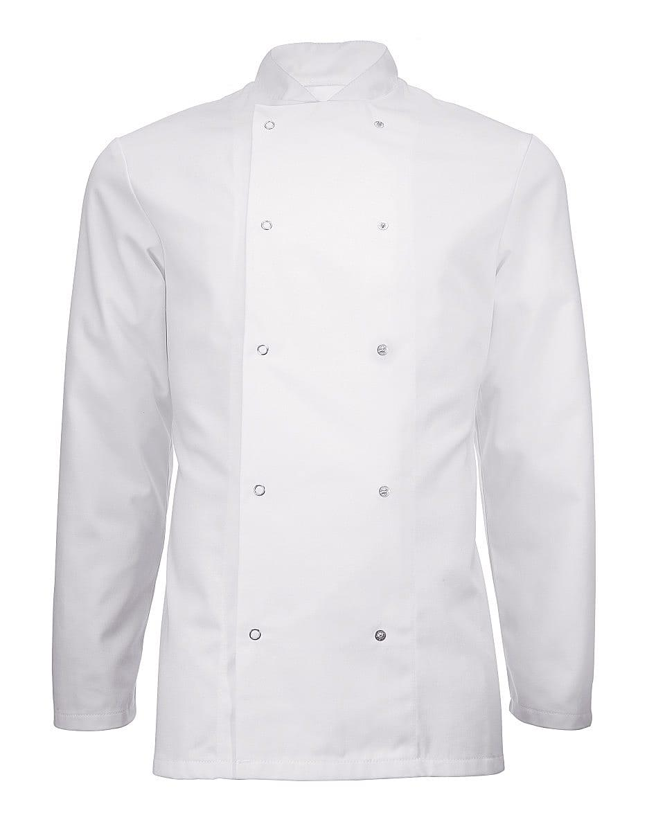 Alexandra Unisex Long-Sleeve Chefs Jacket in White (Product Code: HO11)