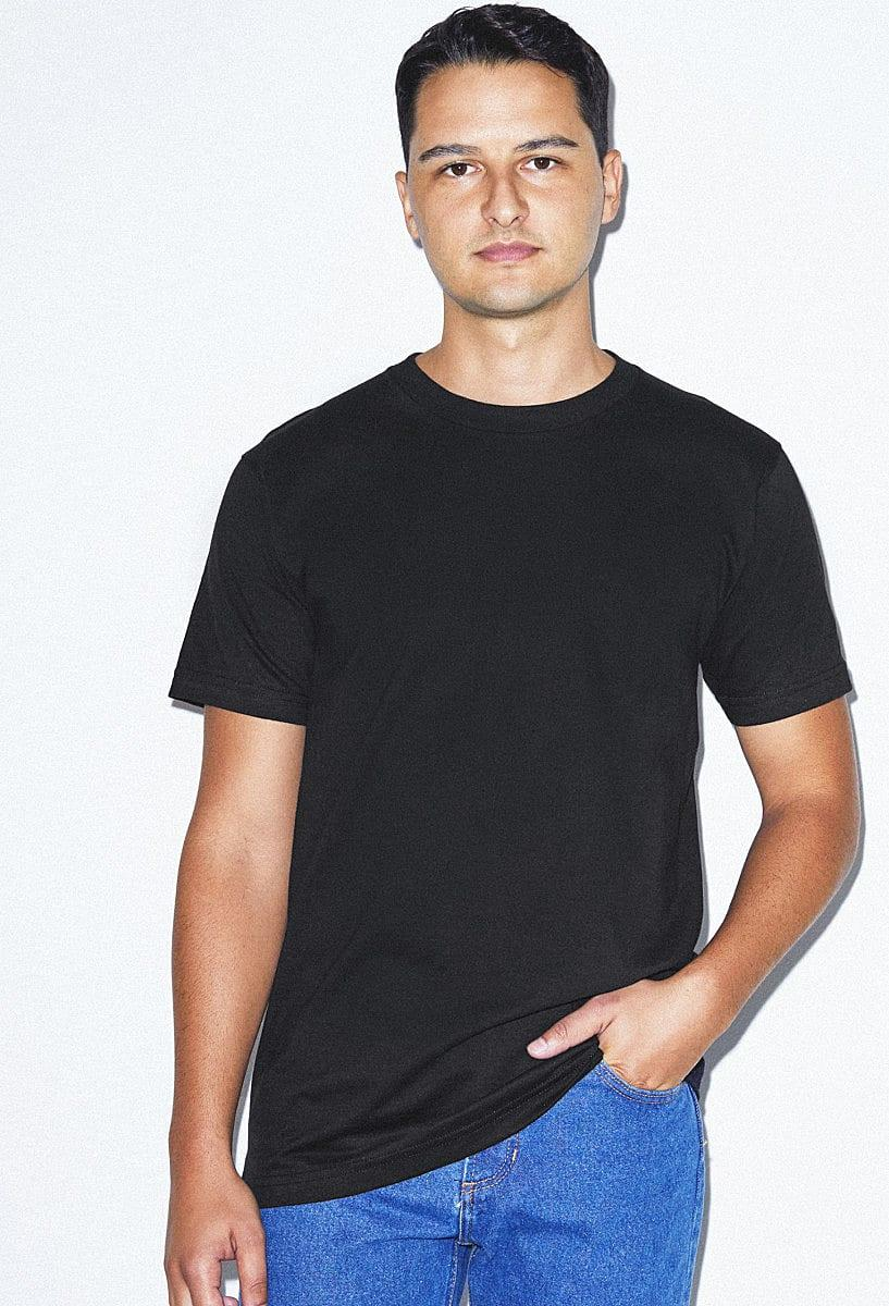 American Apparel Unisex Organic T-Shirt in Black (Product Code: 2001ORGW)