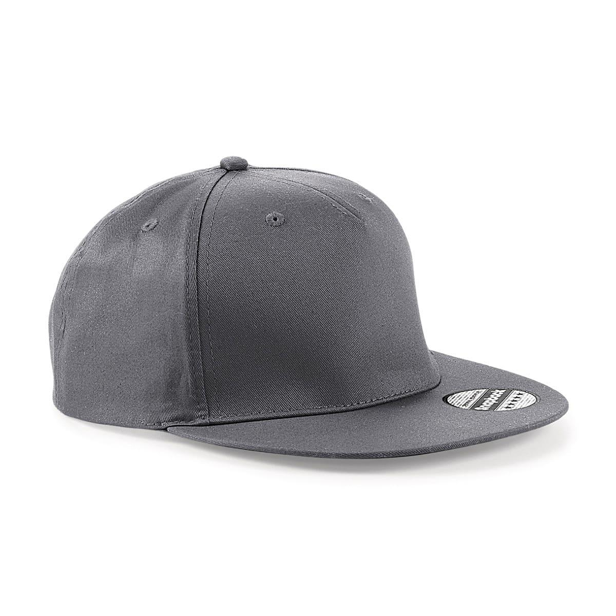 Beechfield Snapback Rapper Cap in Graphite (Product Code: B610)