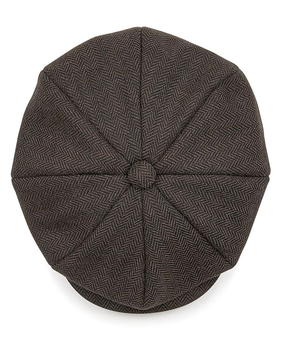 Beechfield Heritage Baker Boy Cap in Brown Herringbone (Product Code: B628)