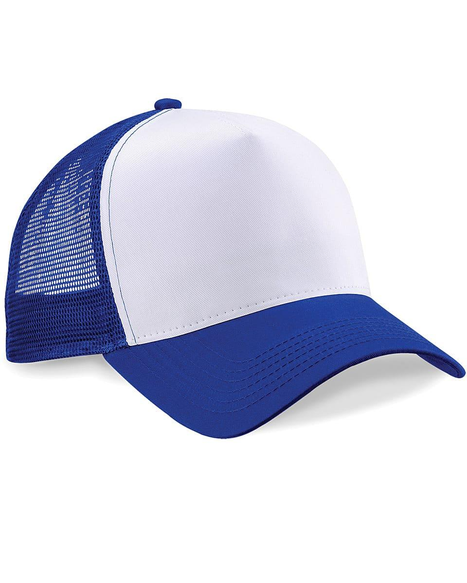 Beechfield Snapback Trucker Cap in Bright Royal / White (Product Code: B640)
