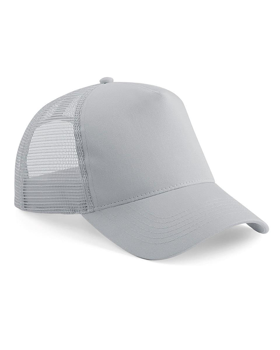 Beechfield Snapback Trucker Cap in Light Grey (Product Code: B640)