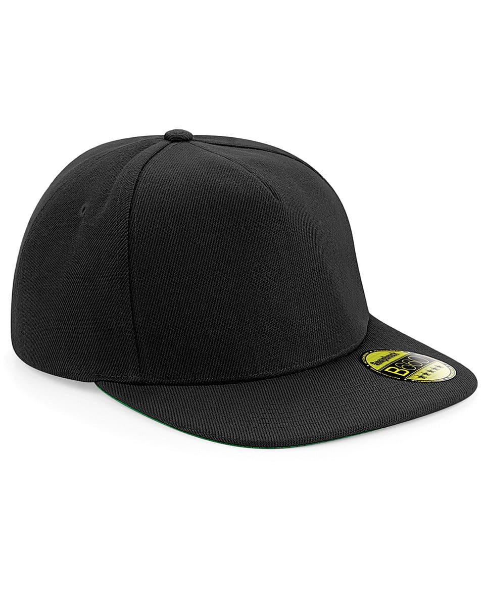 Beechfield Original Flat Peak Snapback in Black (Product Code: B660)