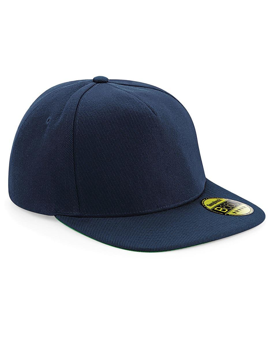 Beechfield Original Flat Peak Snapback in French Navy (Product Code: B660)