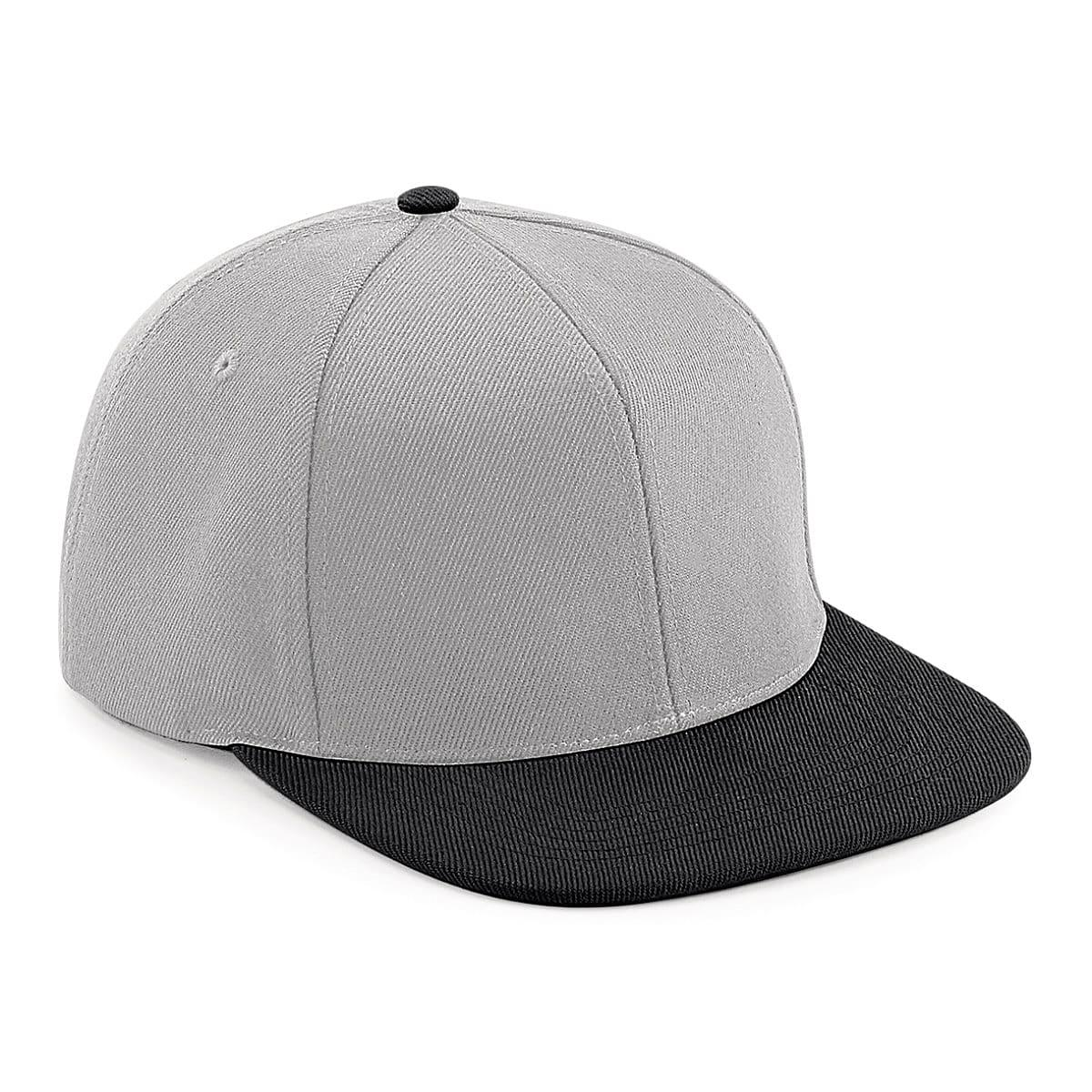 Original Flat Peak 6 Panel Snapback Cap in Grey / Black (Product Code: B661)