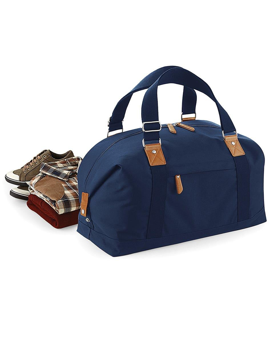 Bagbase Vintage Overnighter in French Navy (Product Code: BG628)