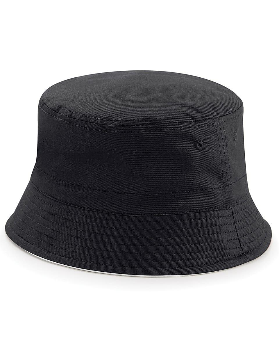 Beechfield Reversible Bucket Hat in Black / Light Grey (Product Code: B686)
