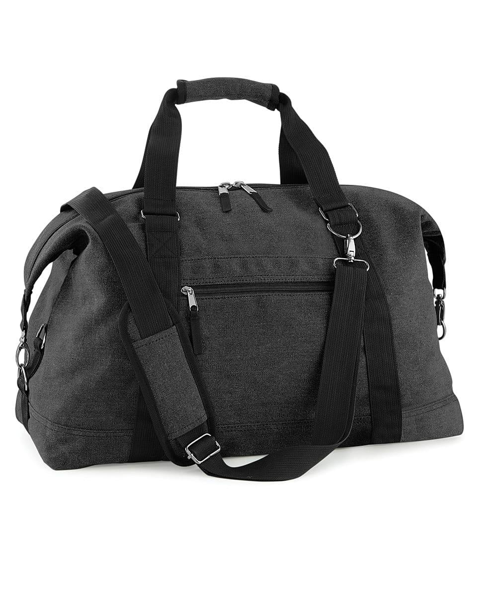 Bagbase Vintage Canvas Weekender in Vintage Black (Product Code: BG650)