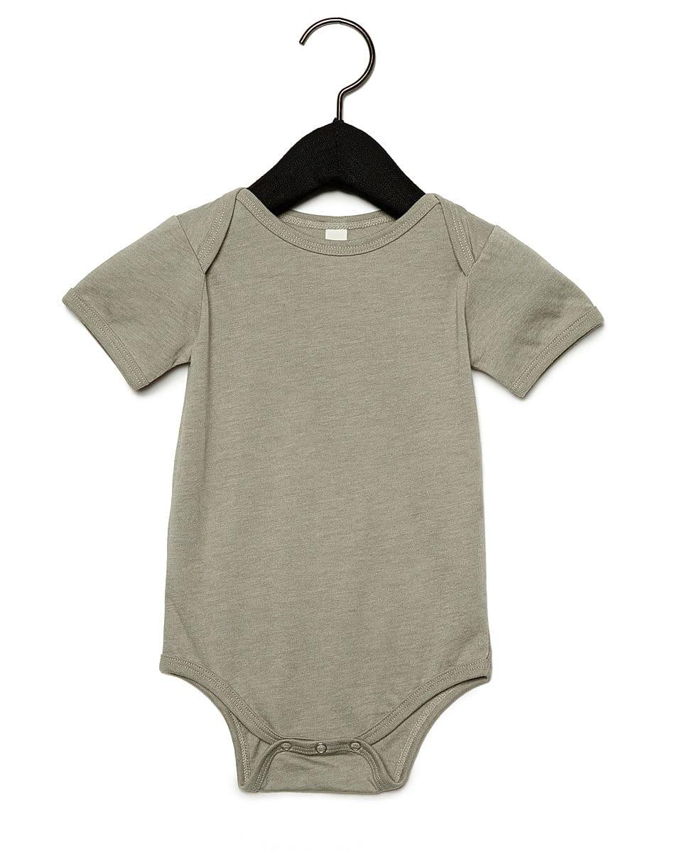 Bella Baby Jersey Short-Sleeve Onesie in Heather Stone (Product Code: BE100B)