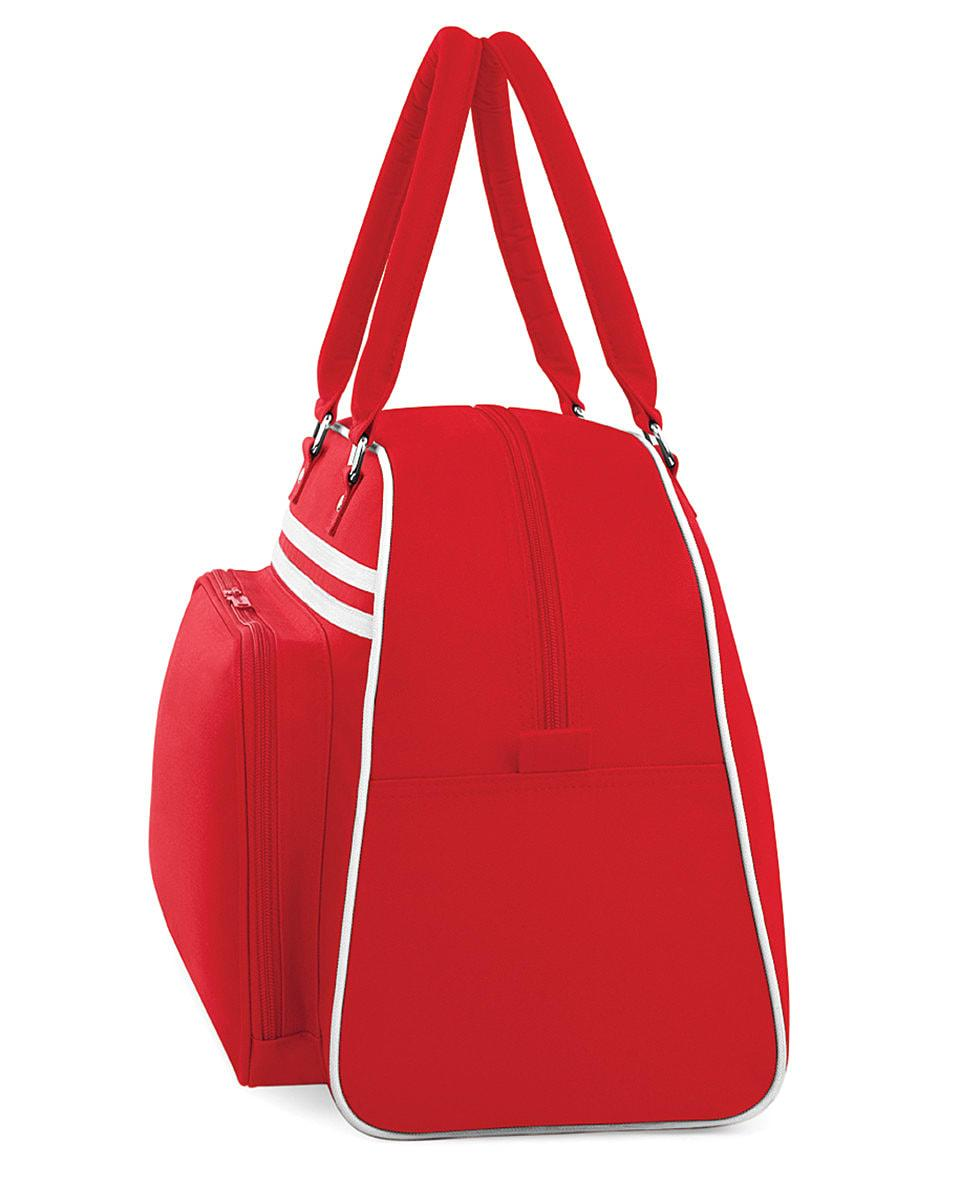 Bagbase Retro Bowling Bag in Classic Red / White (Product Code: BG75)